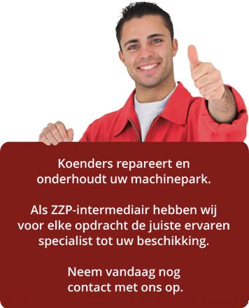 Koenders repareert en onderhoudt uw machinepark